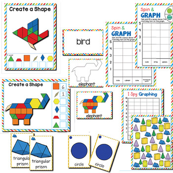 2D and 3D Shapes   1st Grade Math Centers