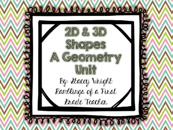 2D and 3D Shapes--A Geometry Unit