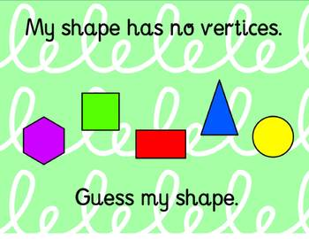 2D and 3D Shapes: A Reivew Flipchart