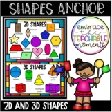 2D and 3D Shapes Anchor Chart