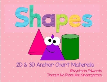 2d And 3d Shapes Anchor Chart Materials By There S No Place Like