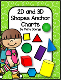 2D and 3D Shapes Anchor Charts