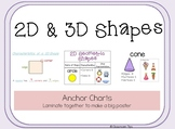 2D and 3D Shapes (Anchor Charts)