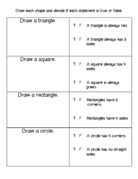 2D and 3D Shapes Assessment