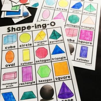 2D and 3D Shapes-Bingo