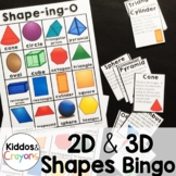 2D and 3D Shapes Bingo Game