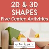 2D and 3D Shapes Bundle - 6 Activities!