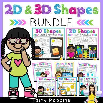 2D and 3D Shapes Bundle (Games, Worksheets, Posters) *NEW*