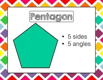 2D and 3D Shapes Posters Geometry BUNDLE | Rainbow Check