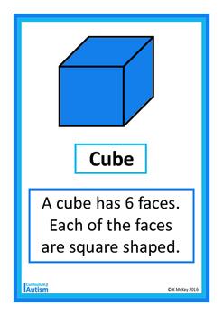 2D 3D Shapes Posters, Autism, Special Education, Math