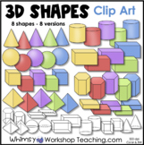 2D and 3D Shapes Clip Art - Whimsy Workshop Teaching