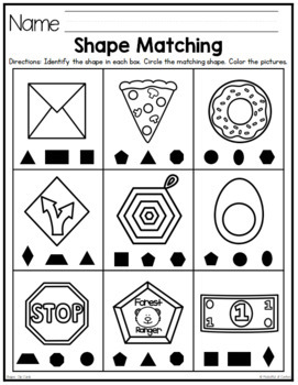 2D and 3D Shapes Clip Cards