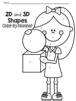 2D and 3D Shapes: Color-By-Number