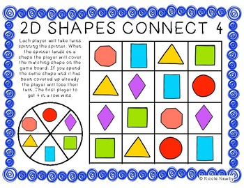 2D and 3D Shapes Connect Four