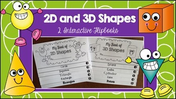2D and 3D Shapes Flipbooks and Activities
