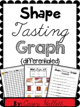2D and 3D Shapes {Food Tasting Graph & Questions}