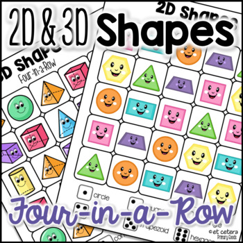 2D and 3D Shapes Four-in-a-Row