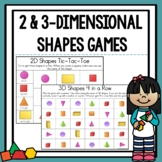 2D and 3D Shapes Game Bundle