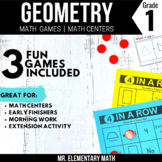 2D and 3D Shapes Games and Centers 1st Grade