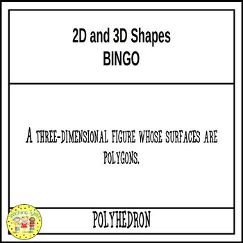 2D and 3D Shapes Geometry BINGO