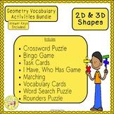 2D and 3D Shapes Geometry Bundle