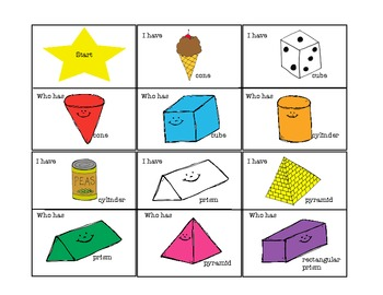 2D and 3D Shapes I Have Who Has