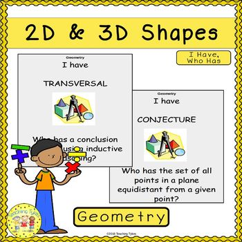 2D and 3D Shapes I Have, Who Has Game