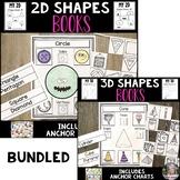 2D and 3D Shapes Interactive Books Bundle