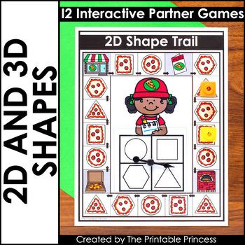 2D and 3D Shapes | Math Games for Kindergarten