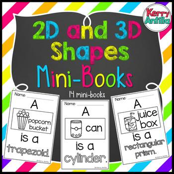 2D and 3D Shapes Mini-Books