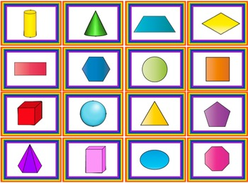 2D and 3D Shapes Mixed Bingo