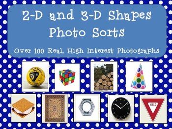 2D and 3D Shapes Photo Sort