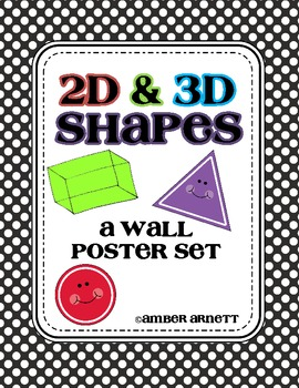 2D and 3D Shapes Poster Wall Set