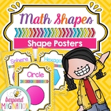 2D and 3D Shape Posters Kindergarten and Up