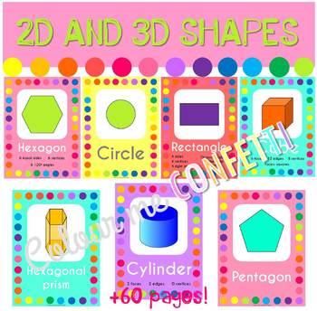 2D and 3D Shapes Posters - Colour me Confetti