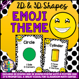 2D and 3D Shapes Posters Emoji Theme BACK TO SCHOOL