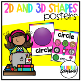 2D and 3D Shapes Posters (Shapes in Everyday Life)