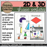 2D and 3D Shapes Posters (Shiplap & Succulents)