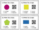 2D and 3D Shapes QR Code Task Cards {2.G.1}
