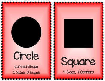 2D and 3D Shapes - Red and White