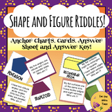 2D & 3D Shapes-Math Center Activities with Answer Sheet,Riddles,Posters & Cards!