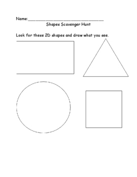 2D and 3D Shapes Scavenger Hunt