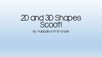 2D and 3D Shapes Scoot
