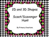 2D and 3D Shapes Scoot/ Scavenger Hunt