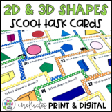 2D and 3D Shapes Scoot or Task Cards