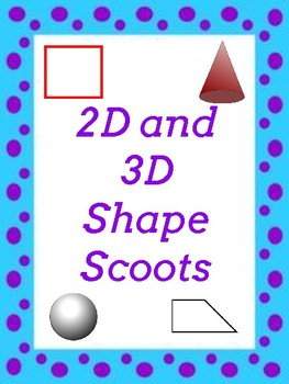 2D and 3D Shapes Scoots and Worksheets
