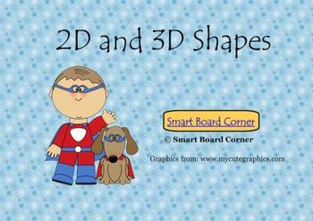 2D and 3D Shapes Smart Board Lesson