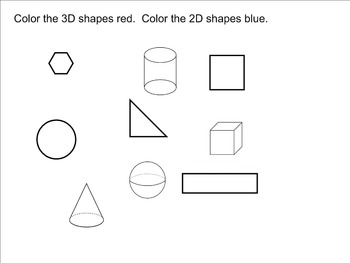 2D and 3D Shapes Smart Notebook