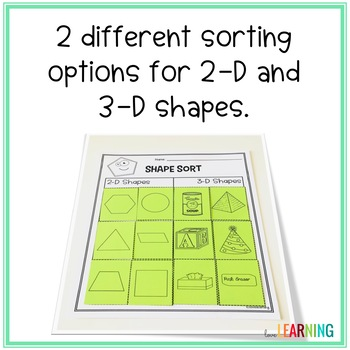 2D and 3D Shapes Sort and Trace