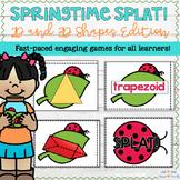 2D and 3D Shapes Game - Springtime SPLAT!